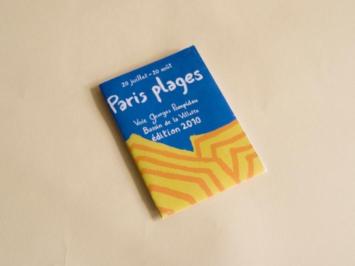 dépliant pour Paris plages